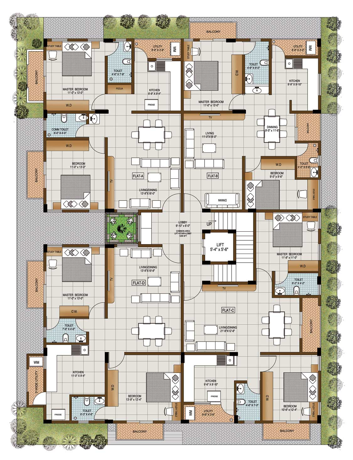 Ssv projects builders in bangalore ssv emerald luxury for Floor plan project